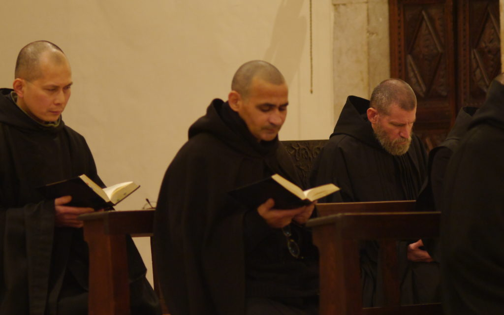 Benedictines in Italy, members are largely American (Order of Saint Benedict, Norcia, Italy - https://en.nursia.org/)